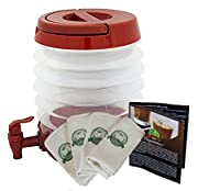 Bundle: Madesco Coldbrew Coffee Filter 4-pack and Collapsible Brewer/Dispenser, 3 Coldbrew Coffee Recipe Books