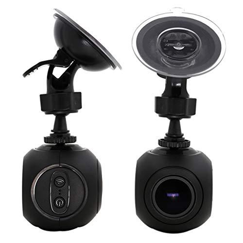 Janly_Fahrzeugelektronik WiFi Car Dash Cam,Janly Mini GPS-Kamera Armaturenbrett mit G-Sensor Nachtsicht mit G-Sensor Nachtsicht (Schwarz)