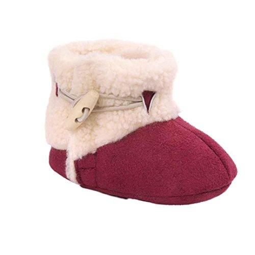 Clode® Kleinkind Baby Mädchen Warm Halten Schneestiefel Weiche Sohlen Krippe Schuhe Kleinkind-Stiefel Winterstiefel (13/12 ~ 18 Monate, Rot)