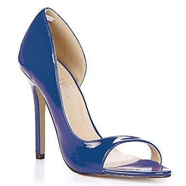 LvYuan Da donna-Sandali-Ufficio e lavoro Formale Casual-Comoda-A stiletto-PU (Poliuretano)-Nero Blu Giallo Rosa Viola Rosso Bianco Arancione Black