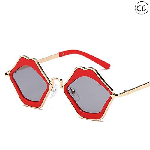 Taiyangcheng Kinder Geschenk Kinder & Baby Sonnenbrillen Vintage Lippen Sonnenbrillen Brillen Geschenk Kindermode Brillengestell,C6
