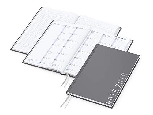 Calendario Con Note.Geiger Notes Hybrid Timer Month 2019 Taccuino Formato Din A5 Con Calendario 24 Mesi 128 Pagine A Quadretti Con Microperforazione E 64 Pagine
