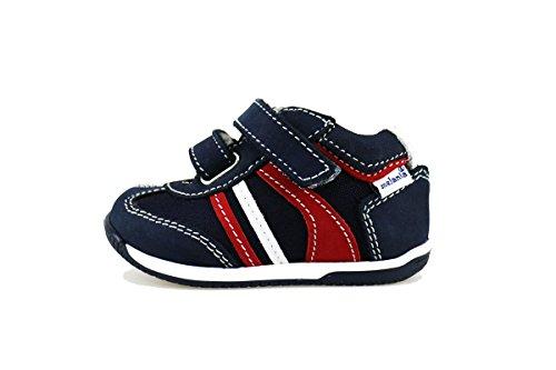 MELANIA sneakers bambino blu tessuto pelle AG394 (18 EU)