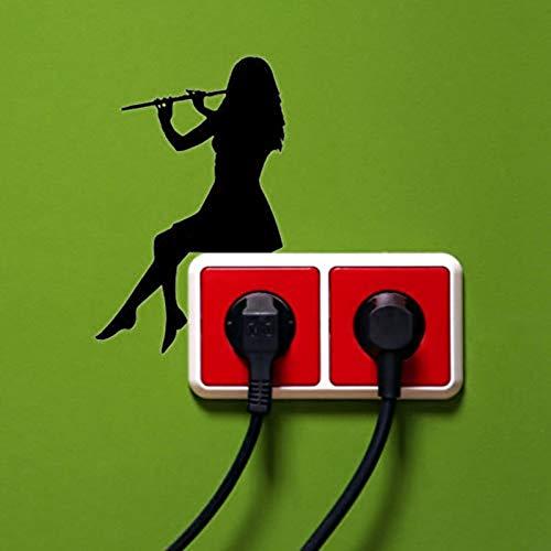 Custom Wall Sticker Silhouette Light Switch Sticker Classical Music Wall Stickers Home Decor 20X10X1Cm -