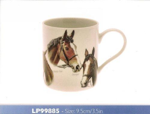 Leonardo Classic Race - Tasse en porcelaine à motifs chevaux de course, dans une boîte cadeau