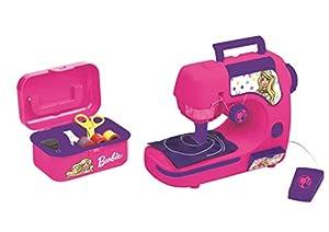 Barbie-Mattel Lexibook SW100B Máquina de Coser con Accesorios, Luz Y Pedal, Juguete de Imitación para Niñas, Juego Diseño de Moda, Rosa (Sw100Bb), Color, 6