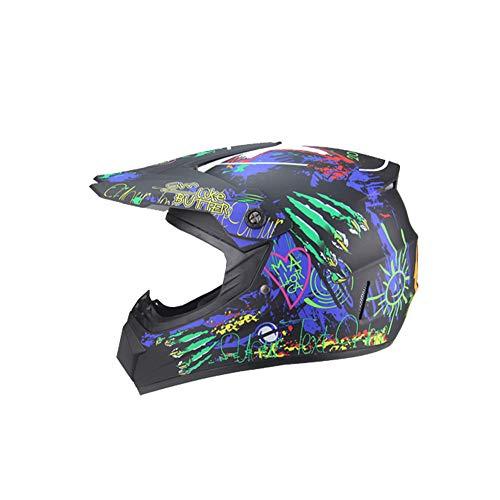 Weifan-protective gear casco moto quattro stagioni sport off road casco moto cross motocross dirt bike atv d.o.t rockstar certificato (misura: m) a6