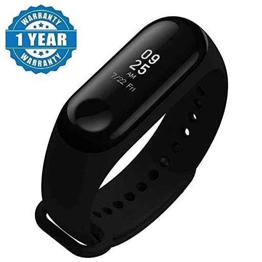 - 4135YzwaxjL - Enraciner M3 Smart Fitness Band Activity Tracker with Heart Rate Sensor Compatible for All Androids/iPhone Device