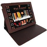 Piel Frama U532COM Cinema Case für Apple iPad 2/3/4 braun in Krokodillederoptik