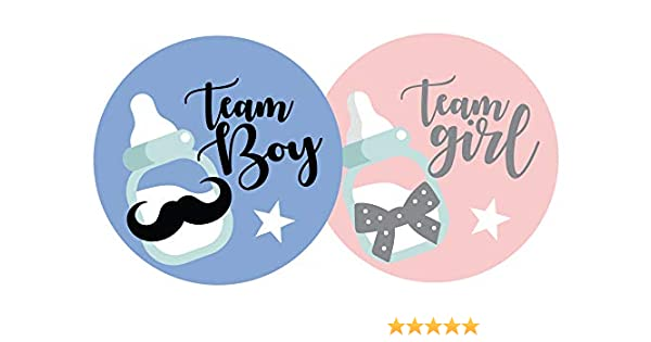 Pink, Blue Little Twinkle Toes x35 Team Girl /& x35 Team Boy Gender Reveal Party Game Stickers Baby Shower