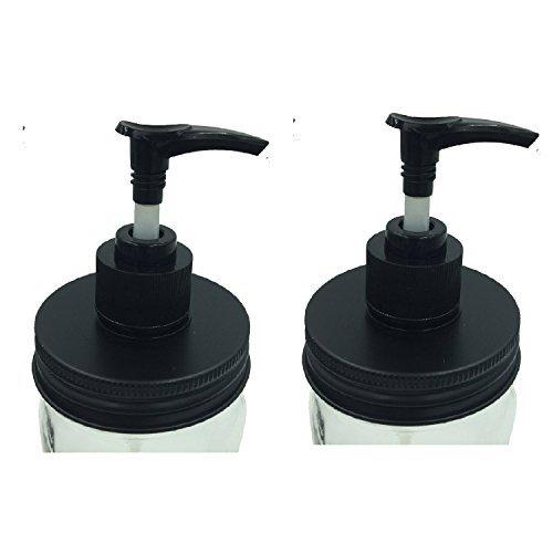 Schwarz Aluminium Seifenspender Deckel Pumpe einfügen Kit Rost und auslaufen Beweis für Mason, Ball, Einmachgläser, Aluminium, schwarz, Reg Mouth (Mason Dispenser Deckel Jar Lotion)