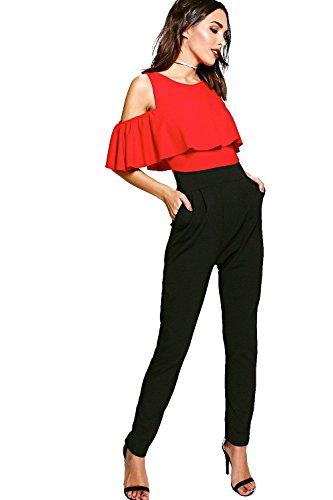 red-womens-viki-ruffle-cold-shoulder-skinny-leg-jumpsuit