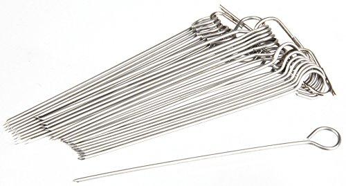 FMprofessional Rouladennadeln, Hochwertige Rouladenspieße aus Edelstahl, Bratennadeln für die die Zubereitung von Rouladen (Farbe: Silber), Menge: 30 Stück