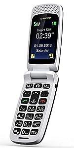 ISHEEP quad-band GSM Big Button Senior Unlocked SIM-Free Mobile Phone Black Color (SF213)