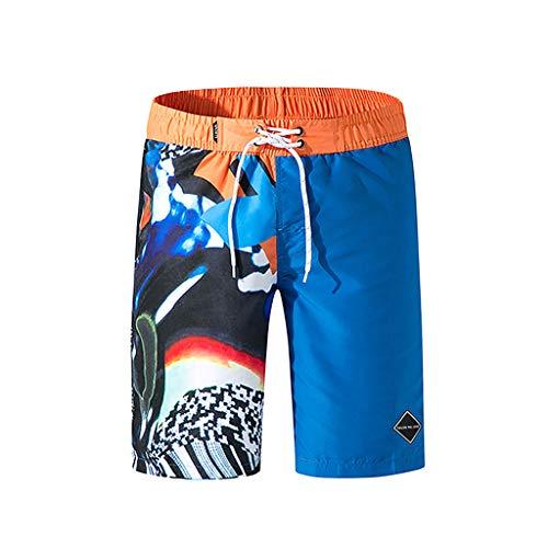 Xmiral Herren Strand Shorts Badehose Schnelles Trocknen Surfen Laufen Schwimmen(L,B2)