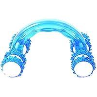 ZZuffig Ocho Rodillo de plástico masajeador Manual de Cuerpo de la Rueda en Forma de Arco de Fitness Masaje Rodillo Azul, Accesorios para la Salud y Productos de Cuidado Personal