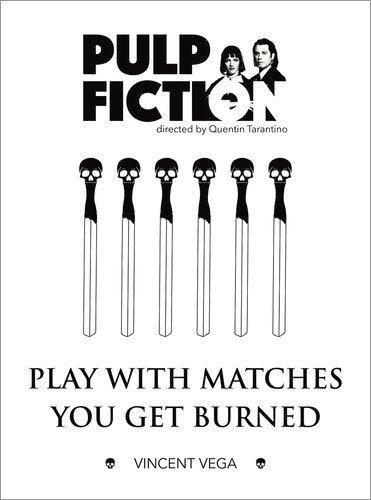 Poster 100 x 130 cm: Pulp Fiction - Quentin Tarantino von Dear Dear - Hochwertiger Kunstdruck, Kunstposter