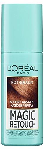 Rot Braune Haare (L'Oréal Paris Magic Retouch Ansatz-Kaschierspray, Rot-Braun, 1er Pack (1 x 75 ml))