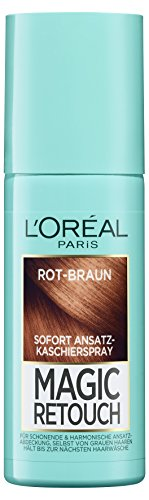 Retouch Ansatz-Kaschierspray, Rot-Braun, 1er Pack (1 x 75 ml) (Violett Haar Spray)