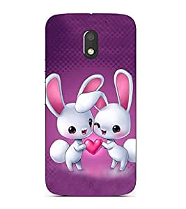ifasho Designer Back Case Cover for Motorola Moto E3 :: Motorola Moto E (3rd Gen) (Cartoon Love Rabit Caricaturestar More Words Related To Cartoon Mimicry)