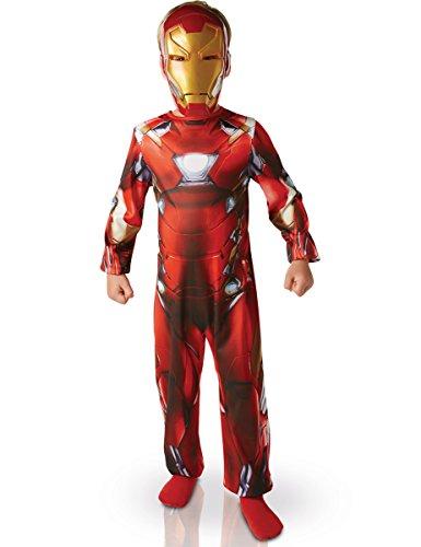 Marvel Civil War Iron Man Kinderkostüm Lizenzware rot-gold 122/128 (7-8 Jahre) (Black Iron Man Kostüm)