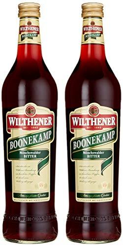 WILTHENER Boonekamp, Bitter 43 %, bewährter Tropfen aus Kräutern und Wurzeln, Bitterlikör ohne Zuckerzusatz (2 x 0.7 l)
