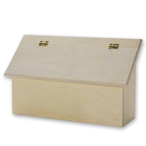 S & S weltweit wd7561unlackiert Holz Briefkasten