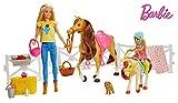Mattel Muñecas Barbie y Chelsea con caballos y accesorios, multicolor...