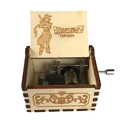 Caja de música de manivela de madera tallada antigua, caja musical exquisita del tema retro para el regalo del día de fiesta de cumpleaños size Dragon Ball