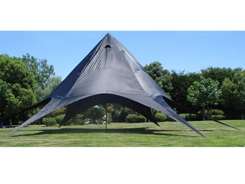 CLP XL-Sternzelt für den Garten I Event-Zelt mit 14 Meter Durchmesser I Gartenzelt mit Einer überdachten Fläche von ca. 40 m² I erhältlich Schwarz