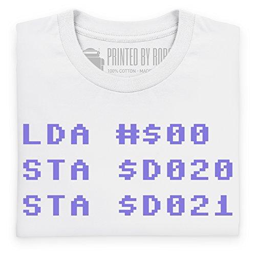 Assembler T-Shirt, Herren Wei