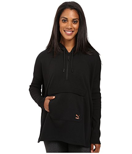 PUMA Women's EVO Hooded Cape, Cotton Black, X-Large (Womens Cape Hooded Black)