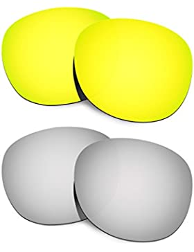 Hkuco Plus Replacement Lenses For Oakley Latch - 2 pair Combo Pack