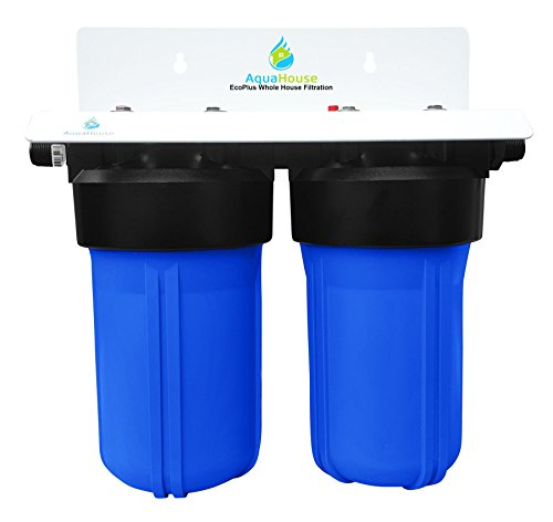 EcoPlus Whole House Water Filter System & Salt Free Water Softener, Proven 99.6% effective Scale Prevention