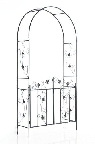 Galleria fotografica CLP Gazebo decorato GARDEN con porta, altezza 230 cm, larghezza 113 cm, preofondità 37 cm nero