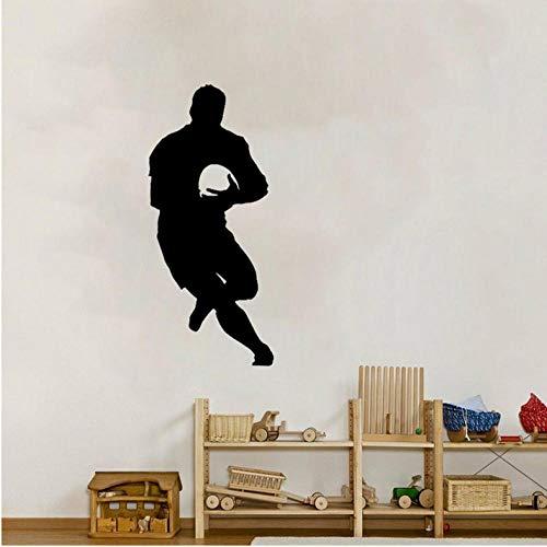 55 CM Interessant Fußball Wandaufkleber Rugby Fußball Zimmer Das Schlafzimmer Dekor PVC ()