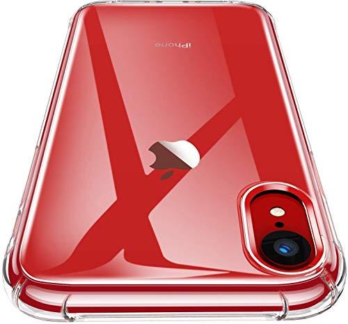Garegce Coque iPhone XR Clair, Souple Clair TPU Silicone/Housse Bumper, [Cadeau Ecran en Verre...