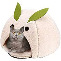 Casa y Sofá para Mascotas, Nido Cueva Cama Gato Puppy Conejo Mascota Antideslizante Plegable Suave