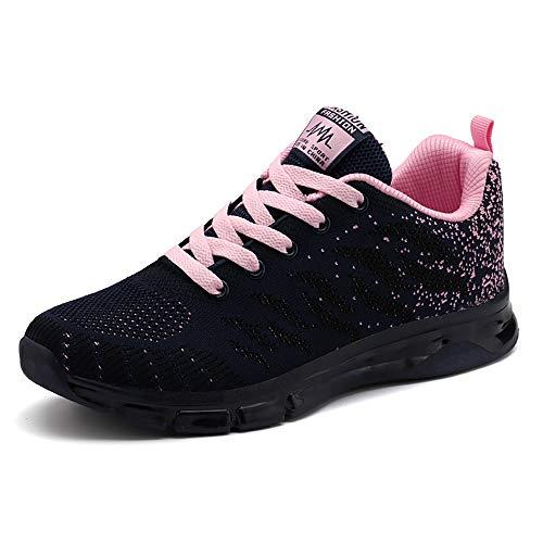 Sneakers Donna Sportive Scarpe da Corsa Walking Maglia Formatori da Ginnastica Low Top Calzature Moda Atletiche Comode Blu 38