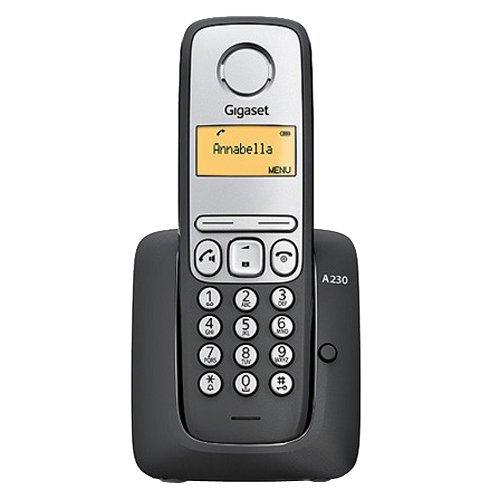 Gigaset A230 - Teléfono fijo, color negro