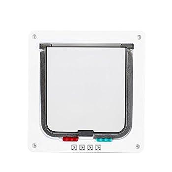 Yosoo Chatière Porte intelligent smart 3 Tailles Accessoires pour Chat Chaton Chien 4 Positions Installation facile avec Vis (L)