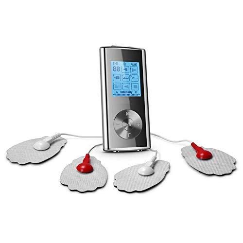 Tens Massagegerät Massager Great Zehne Maschine Ems Gerät für Schmerzlinderung und Entspannung Digitales LCD Bildschirm mit 16 Modi und 8 Pads Zweikanalige
