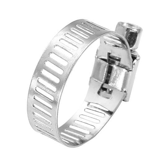 50PCS Colliers de Serrage pour Tuyaux en Acier Inoxydable, Serre-joints à Tuyaux Pinces Tuyaux Clips Fixation (19-29mm)