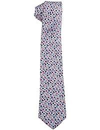 Corbata de flores en seda natural