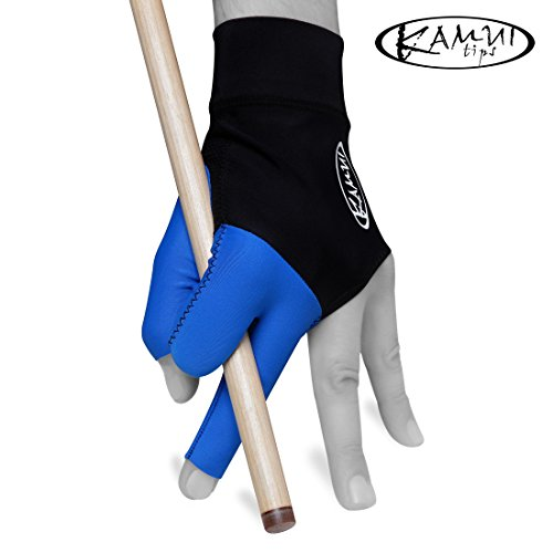 New Kamui Billard Pool Glove – Für die linke Hand – Medium – Blau