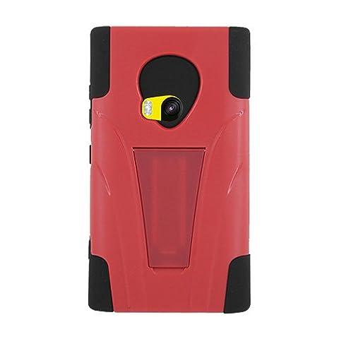 Amzer Hybrid-Schutzhülle für Nokia Lumia920 (zwei Schichten, zum Aufstellen), Schwarz/Rot