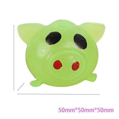 Vent-stress-ball (Squeeze Spielzeug,Beikoard 1pc Anti-Stress Dekompression Splat Ball Vent Toy Smash verschiedene Stile Schweine Spielzeug (Zufalls))