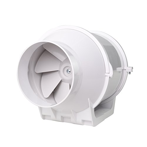 Rohrventilator Rohrlüfter Zusatzlüfter 100 mm Durchmesser Absaug Ansaug Gebläse Industrie Zuluft Abluft Ventilation 2 Stufen