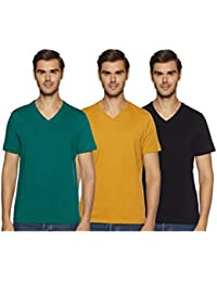 Amazon Brand - Symbol Men's Solid Regular Fit Half Sleeve Cotton T-Shirt (Combo Pack of 3) (AW17PLPO3V4_L_Multicolor4)