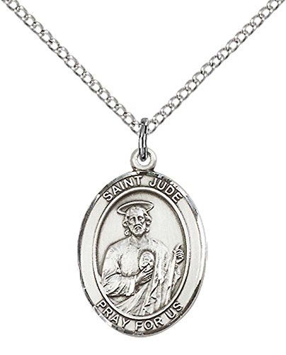 sterling-silver-st-jude-thaddeus-pendant-with-18-stainless-steel-lite-curb-chain-saint-patron-of-des